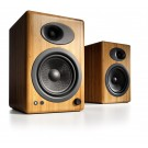 Audioengine A5+ Bookshelf Speakers, Bamboo