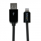 StarTech 2m (6ft) Black Apple 8-pin Lightning Connector to USB Cable
